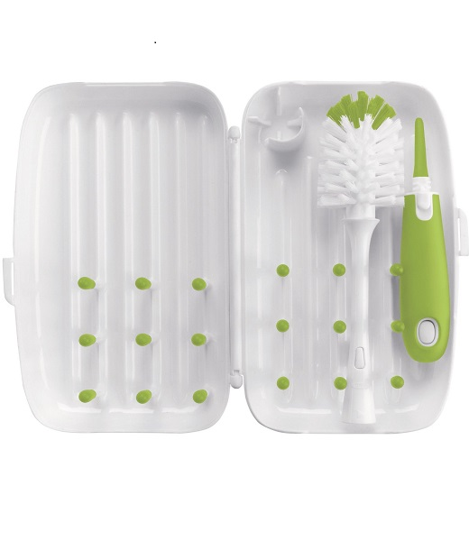 oxo-tot-on-the-go-travel-drying-rack-with-bottle-brush-green